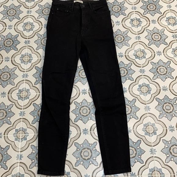 Zara Black high waist ankle skinny Jean - 2